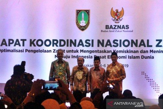 Jusuf Kalla  buka Rakornas Zakat 2019 di Solo