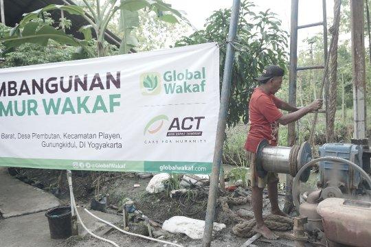 Global wakaf ACT DIY bangun sumur di Gunung Kidul