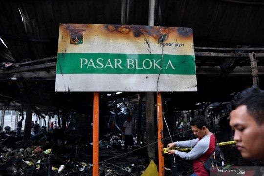 Polisi masih selidiki penyebab kebakaran Pasar Blok A