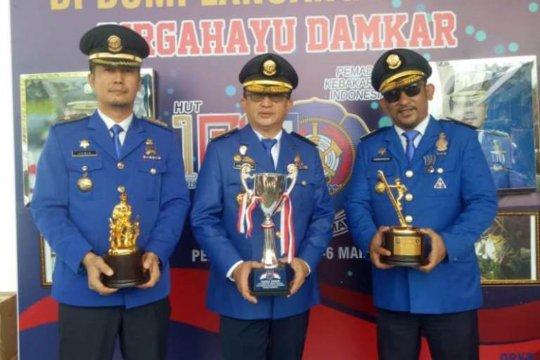 Damkar Makassar juara umum nasional