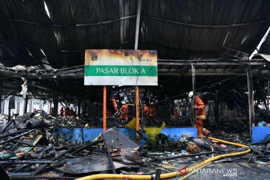 Kebakaran pasar blok A Kebayoran Baru