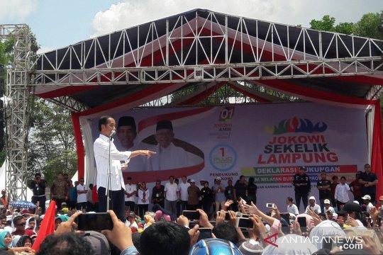 Jokowi hadiri deklarasi dukungan petani dan nelayan Lampung