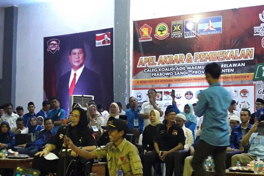 Rachmawati Soekarnoputri semangati ribuan sukarelawan Prabowo-Sandi di Banten