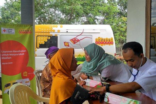 Indosat berikan komunikasi gratis korban banjir Madiun