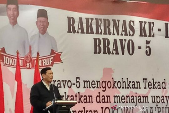 Relawan Bravo 5 bertekad menangkan Jokowi-Ma'ruf Amin di seluruh provinsi
