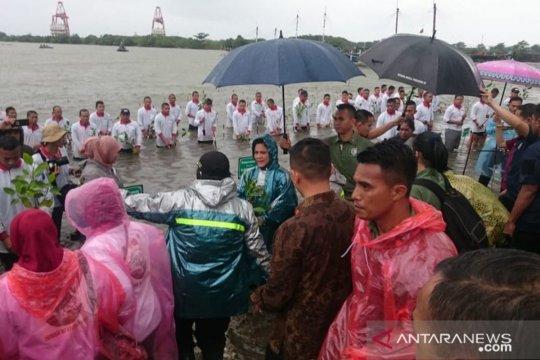 Isteri menteri Kabinet Kerja tanam mangrove di Lombok