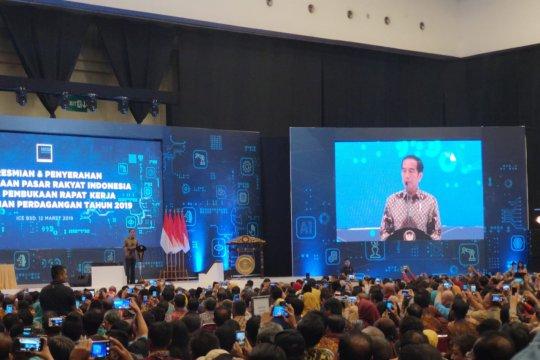Presiden: Bangun ekosistem daring di pasar rakyat