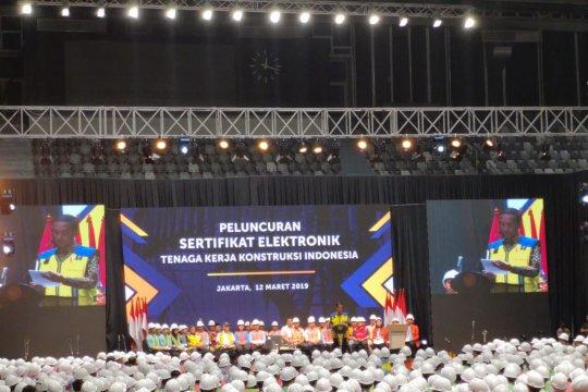 Presiden Jokowi dorong peningkatan kualitas SDM konstruksi