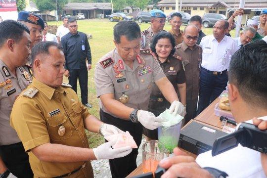 Polda Lampung Musnahkan Puluhan Kilogram Narkotika