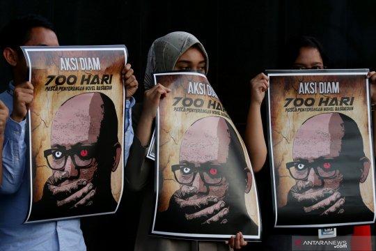 Aksi diam memperingati 700 hari penyerangan terhadap Novel Baswedan