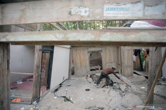 15 rumah rusak akibat pergerakan tanah di Tulungagung
