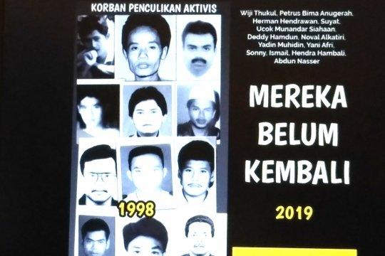Aktivis dan kelurga korban penculikan 1998 imbau pilih Jokowi
