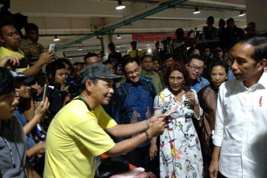 Presiden Jokowi resmikan Pasar Ikan Modern Muara Baru