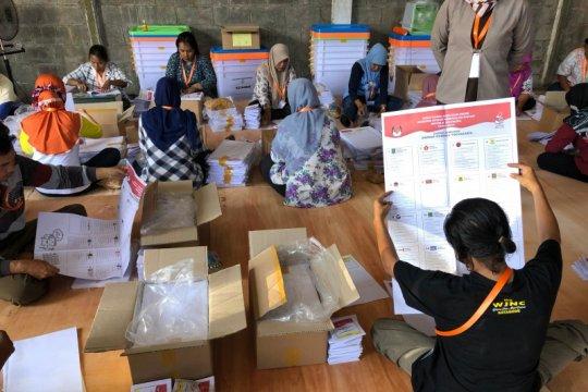 Surat suara DPR RI untuk Kota Yogyakarta mulai dilipat