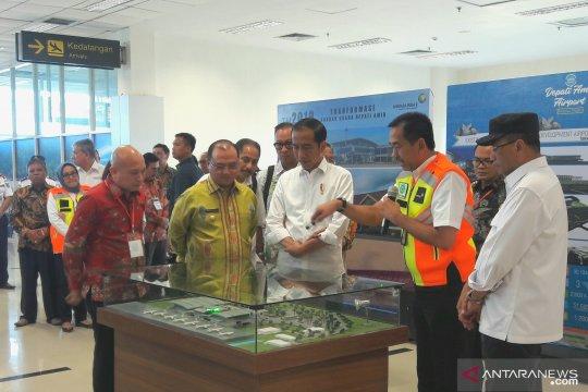 Presiden Jokowi resmikan terminal baru Bandara Depati Amir Babel