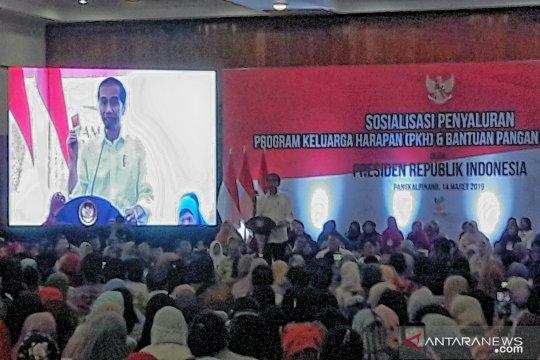 Presiden ingatkan dana PKH diprioritaskan untuk anak