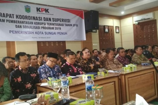 KPK rapat koordinasi pencegahan korupsi dengan Pemkot Sungai Penuh