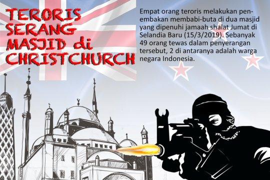 Teroris serang masjid di Christchurch