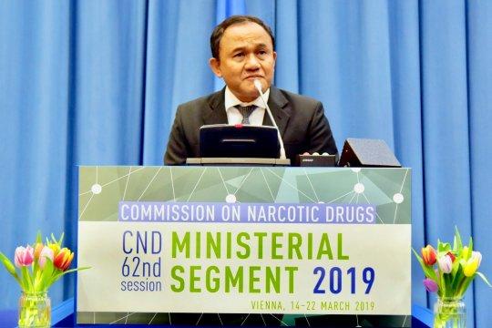 RI tegaskan pentingnya kerjasama  dunia  bebas narkoba