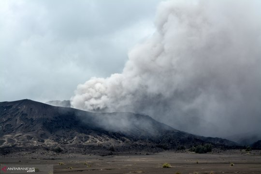 BPBD Probolinggo bagikan masker kepada warga lereng Gunung Bromo