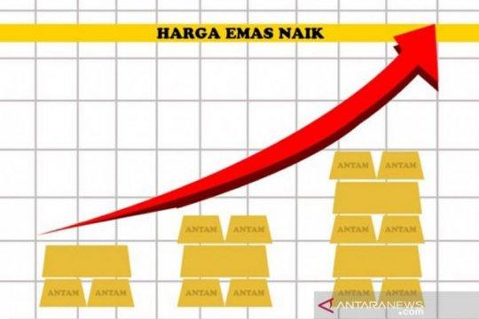 Saham AS anjlok, harga emas berjangka melonjak