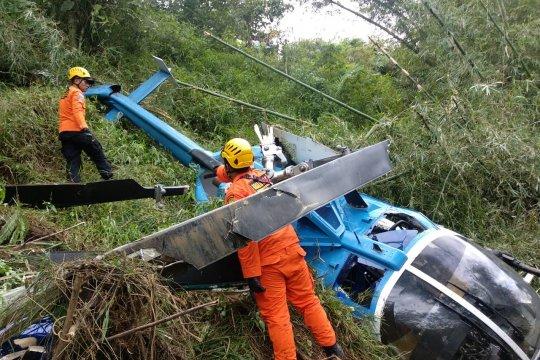 Helikopter jatuh di Tasikmalaya