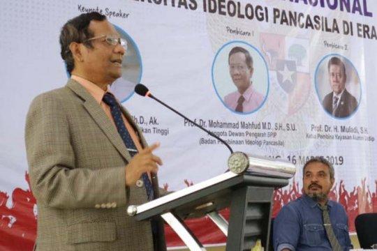 Mahfud MD: Nilai-nilai Pancasila sudah mulai luntur