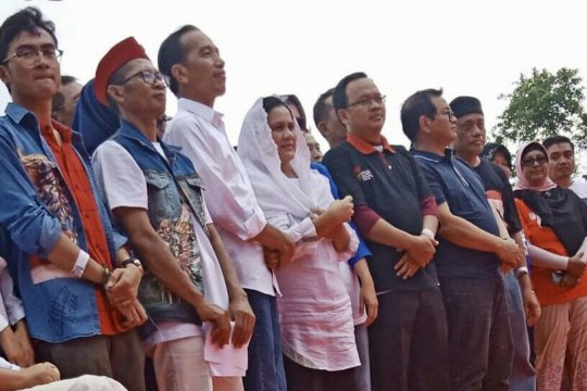 Ksatria Airlangga  imbau tidak pilih caleg tak kampanyekan Jokowi