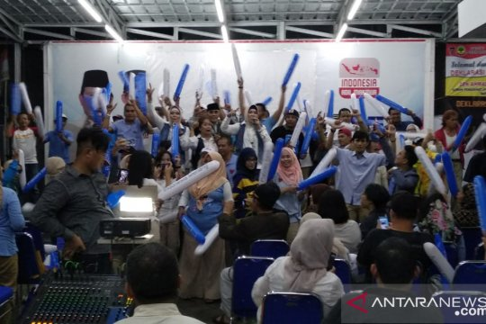 Relawan penuhi nobar debat cawapres di Seknas Prabowo-Sandi