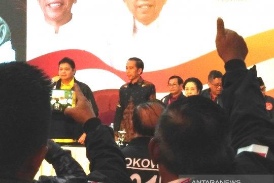 Jokowi: Soal elektabilitas, ada daerah yang di atas target