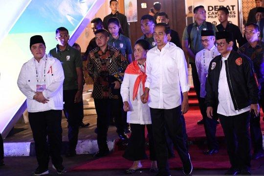 Jokowi sempatkan diri hadir di lokasi debat ketiga Pilpres 2019