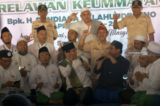 """Simpatisan di Tulungagung """"curhat"""" ke Sandiaga soal KKN Rekrutmen TNI/Polri"""