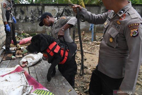 Polisi kerahkan 15 anjing pelacak cari korban banjir Jayapura