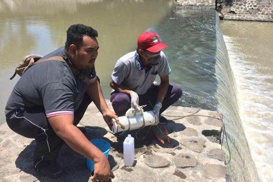 Kandungan air sungai di sembilan titik dicek DLHK Kota Denpasar