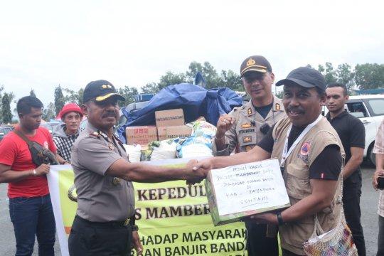 Bantuan pangan mengalir kepada pengungsi Jayapura