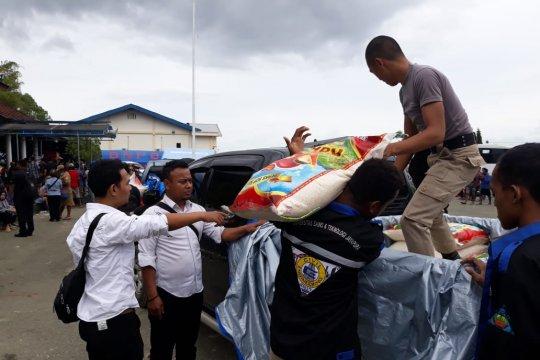 Polda Papua bantu satu ton beras kepada korban banjir