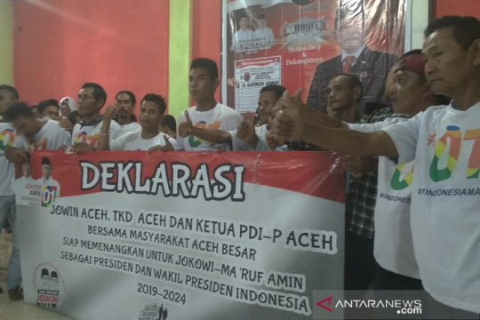 Warga Aceh Besar dukung  Jokowi-Ma'ruf Amin