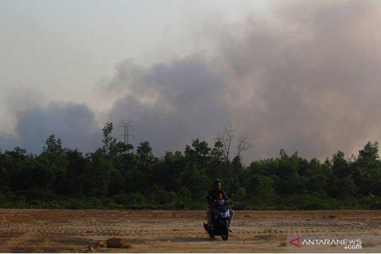 Kota Dumai diselimuti asap pekat akibat Karhutla