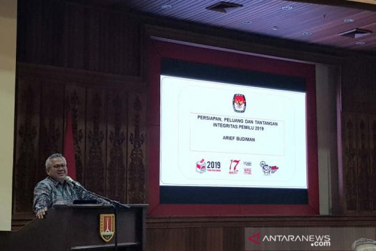 Ketua KPU RI: kesiapan pemilu sudah 80 persen