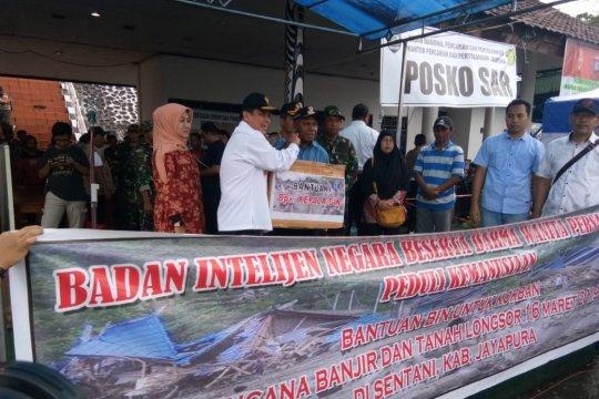 BIN Papua sumbang  bantuan korban banjir Jayapura