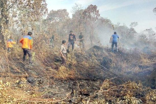 Empat hektare lahan gambut di Aceh hangus terbakar