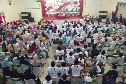 Relawan Nawa Cita Lhokseumawe Deklarasi Pemenangan Jokowi-Amin