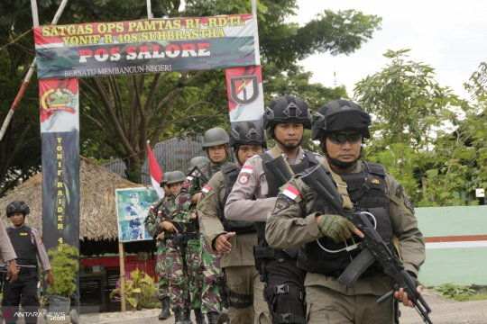 TNI-Polri Tingkatkan Patroli Bersama di Perbatasan Jelang Pemilu 2019