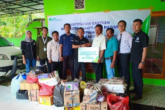 BPJS Ketenagakerjaan salurkan bantuan korban banjir di Madiun-Jatim