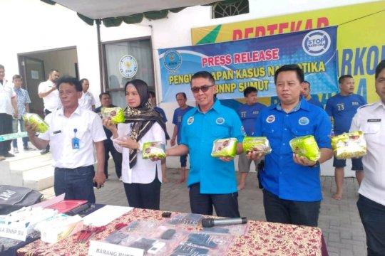 BNN Sumut gagalkan peredaran delapan kilogram sabu jaringan Malaysia