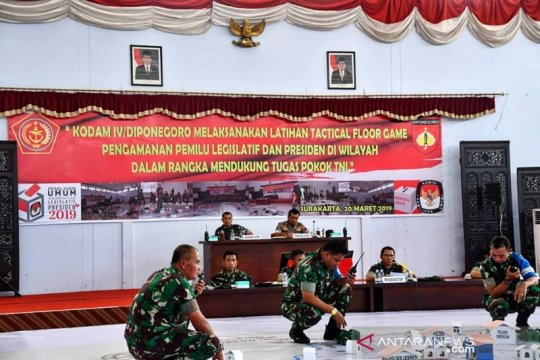 Kodam IV/Diponegoro gelar TFG sukseskan Pemilu 2019