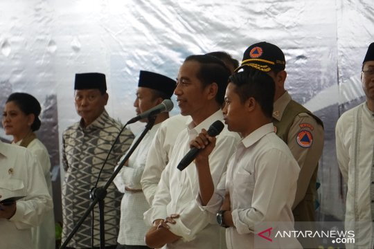 Presiden tegaskan penuntasan rekonstruksi gempa Lombok