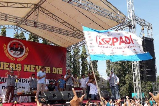 Sandiaga hadiri deklarasi dukungan dari purnawirawan TNI/Polri