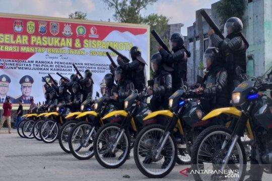4.449 personel TNI-Polri amankan Pemilu di Kalsel