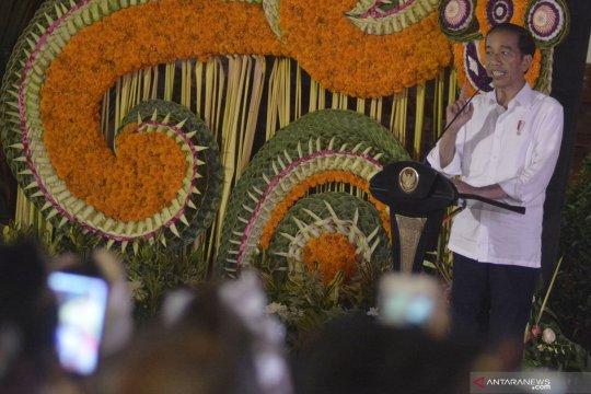 Presiden Jokowi meresmikan Pasar Badung